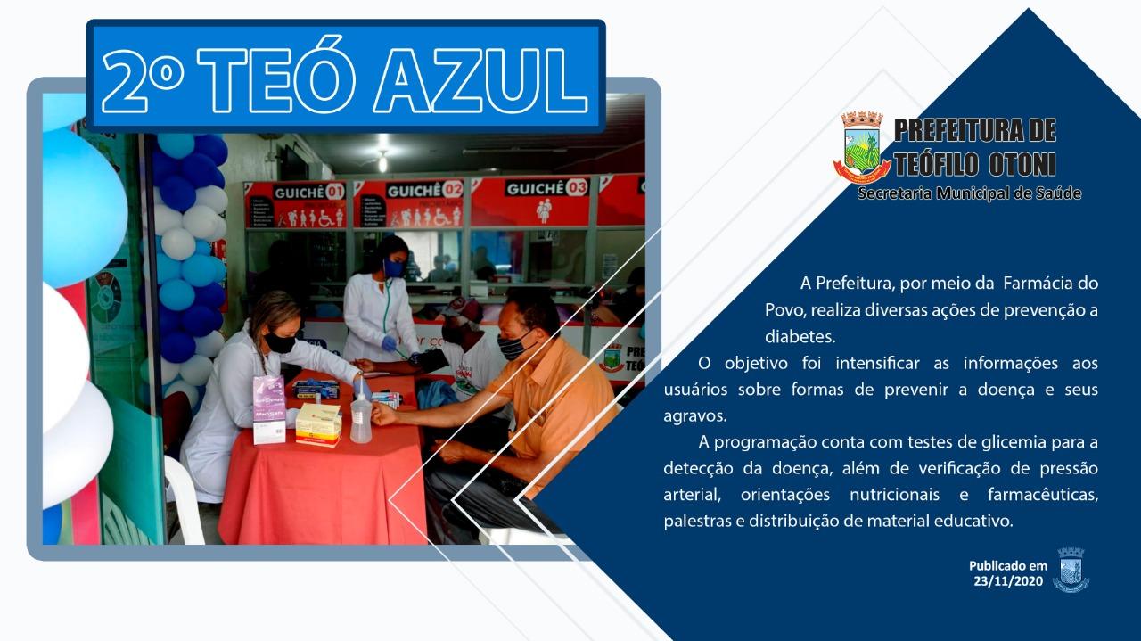 imagem projeto TeóAzul: Ação multiprofissional no cuidado ao portador de Diabetes