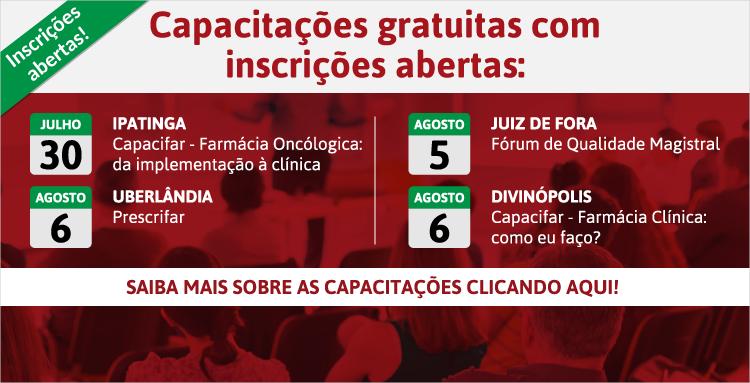 Divinópolis, Ipatinga, Juiz de Fora e Uberlândia são as cidades com eventos gratuitos oferecidos pelo CRF/MG