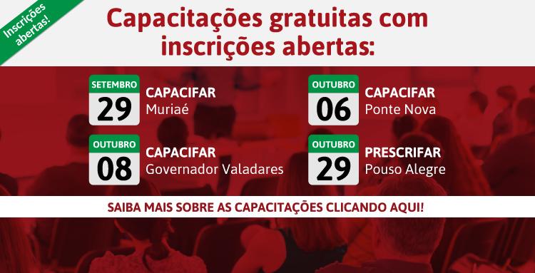 Muriaé, Pouso Alegre, Ponte Nova e Governador Valadares são as cidades com inscrições abertas!