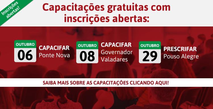 Ponte Nova, Governador Valadares e Pouso Alegre são as cidades com inscrições abertas!