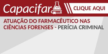 O curso de Pericia Criminal acontece no dia 06 de abril, na sede do CRF/MG