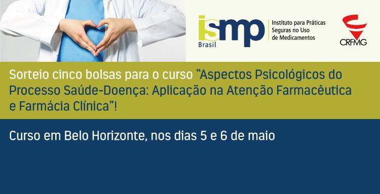 O curso inicia no dia 5 de abril, em Belo Horizonte; cinco bolsas serão sorteadas