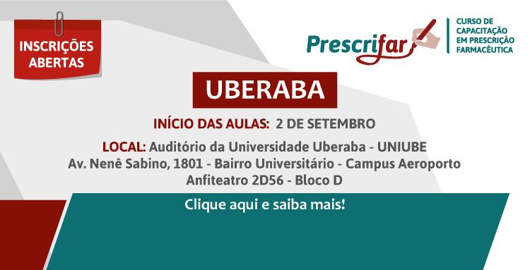 As aulas têm início no dia 02 de setembro, no Auditório da Universidade de Uberaba (UNIUBE)