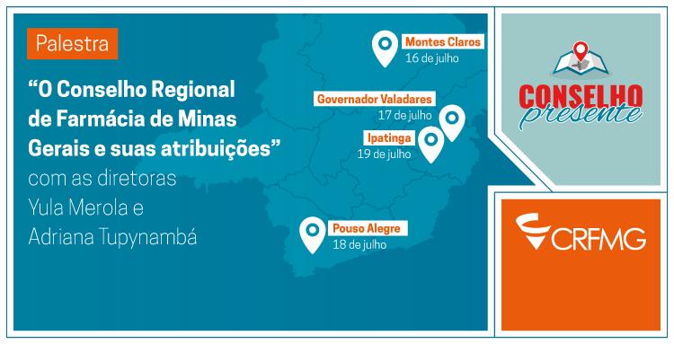 O Projeto Conselho Presente vai estar em Montes Claros, Governador Valadares, Ipatinga e Pouso Alegre, clique para acessar a matéria e se inscrever