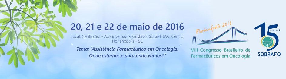 VIII Congresso Brasileiro de Farmacêuticos em Oncologia da Sobrafo