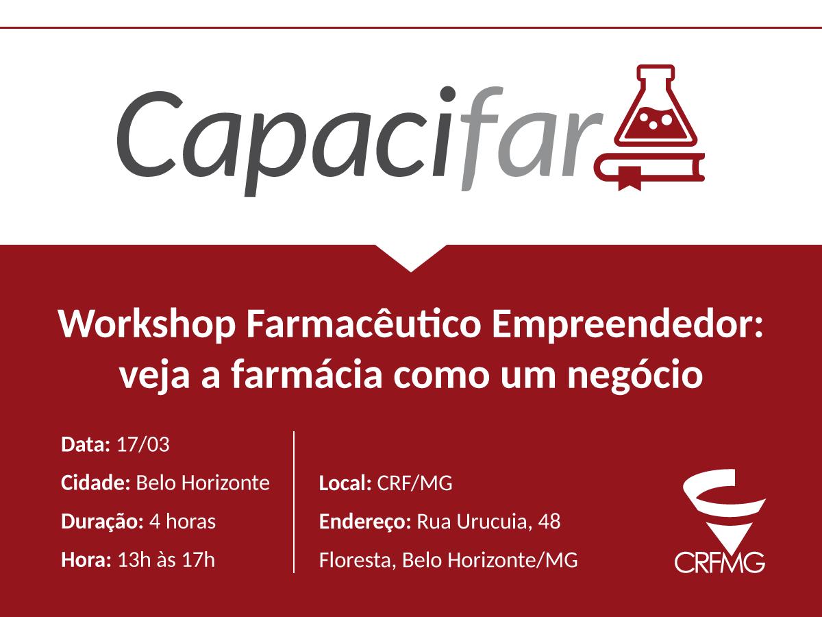 Inscrições abertas para workshop gratuito em empreendedorismo farmacêutico em Belo Horizonte!