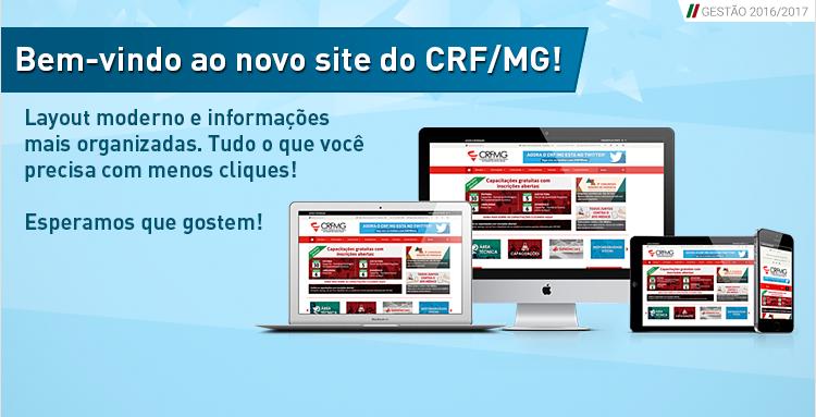 Novo site do CRF/MG está no ar, mais interativo e com layout moderno