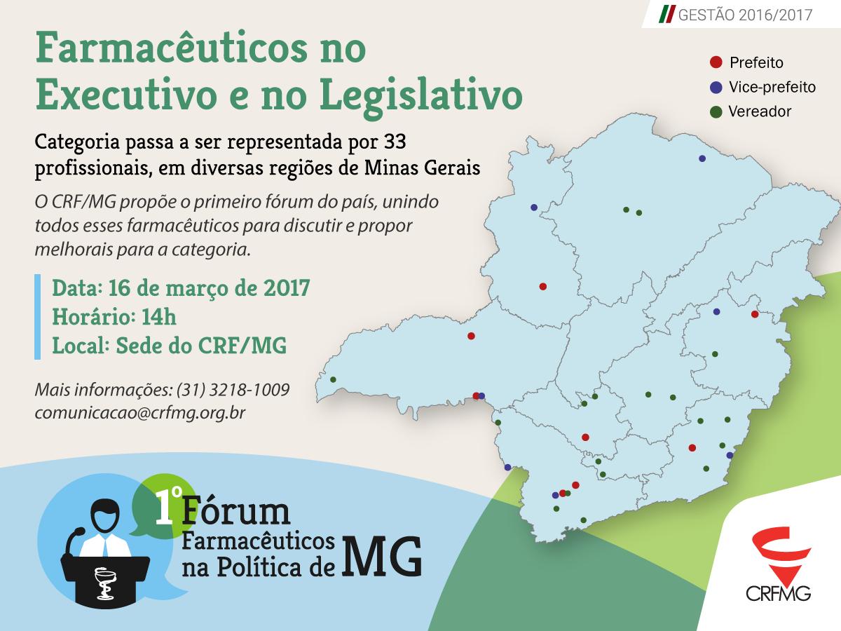 CRF/MG promove primeiro fórum no país de farmacêuticos eleitos na política