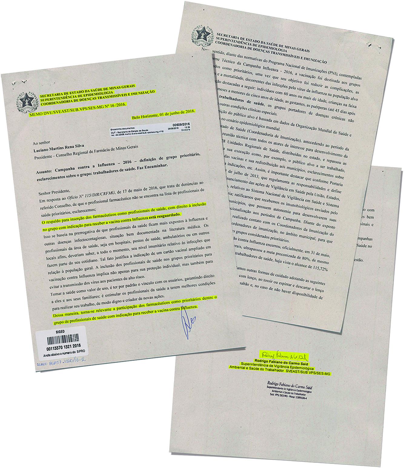 Farmacêutico tem direito à vacinação contra gripe
