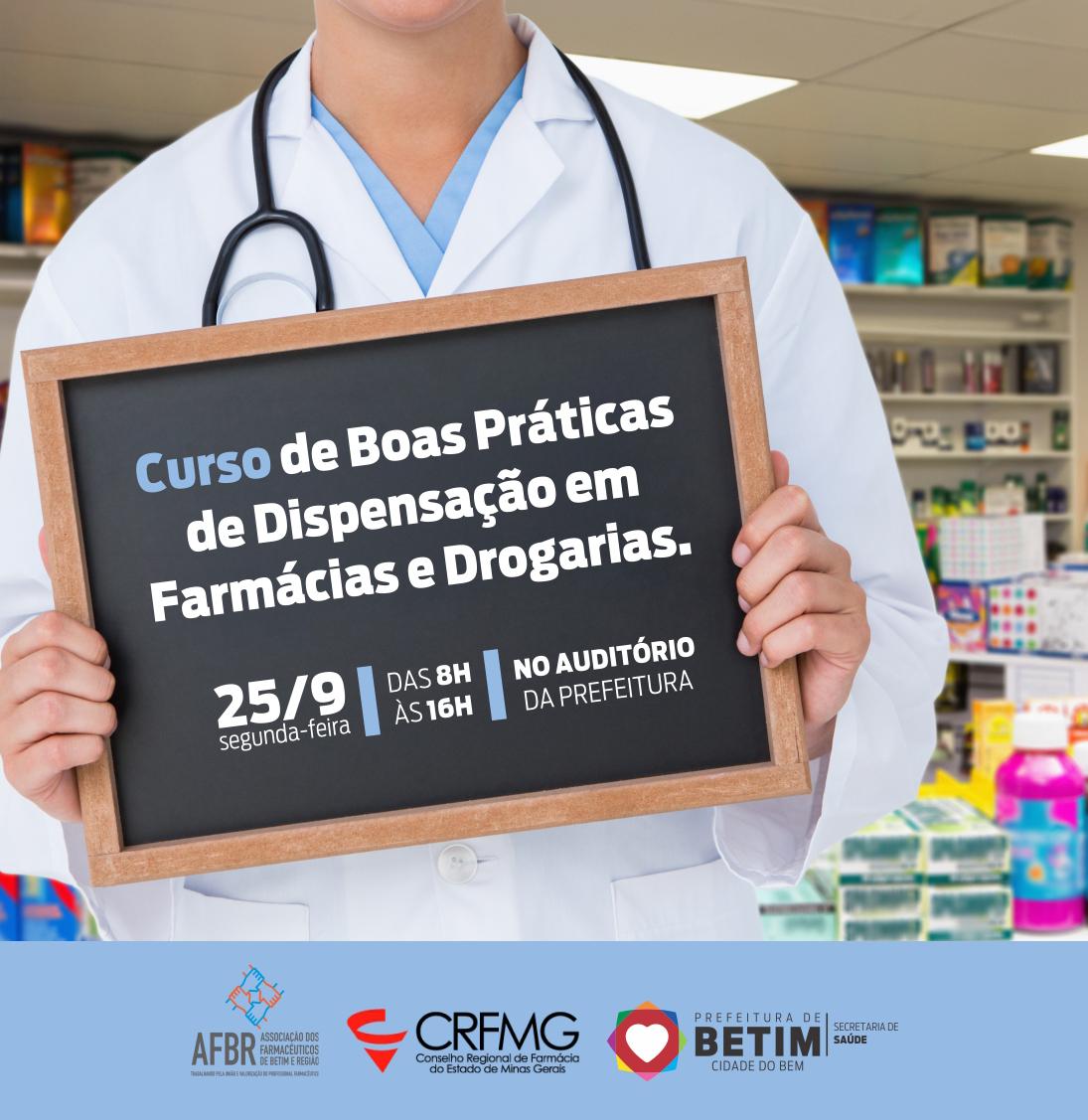 Capacitação para farmacêuticos de farmácias e drogarias de Betim