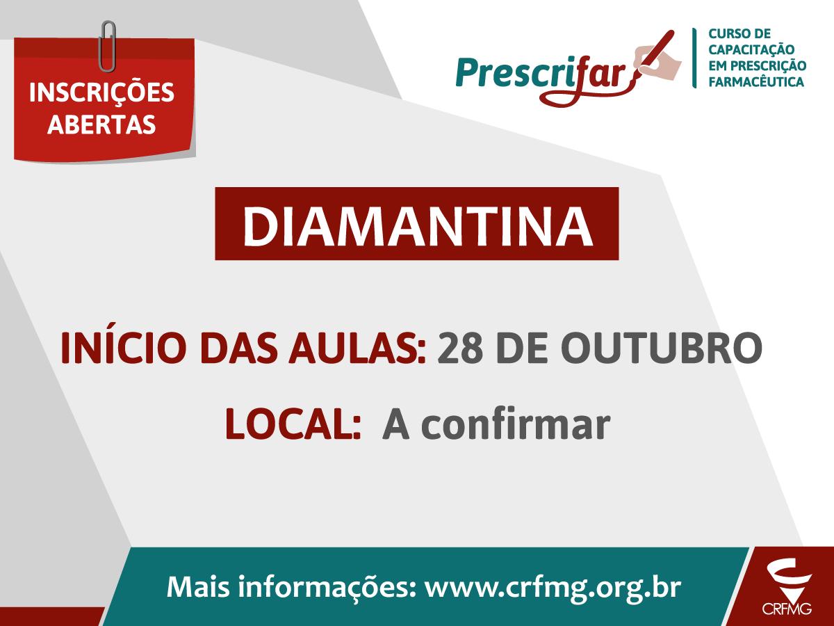 Capacitação em prescrição farmacêutica acontece em Diamantina