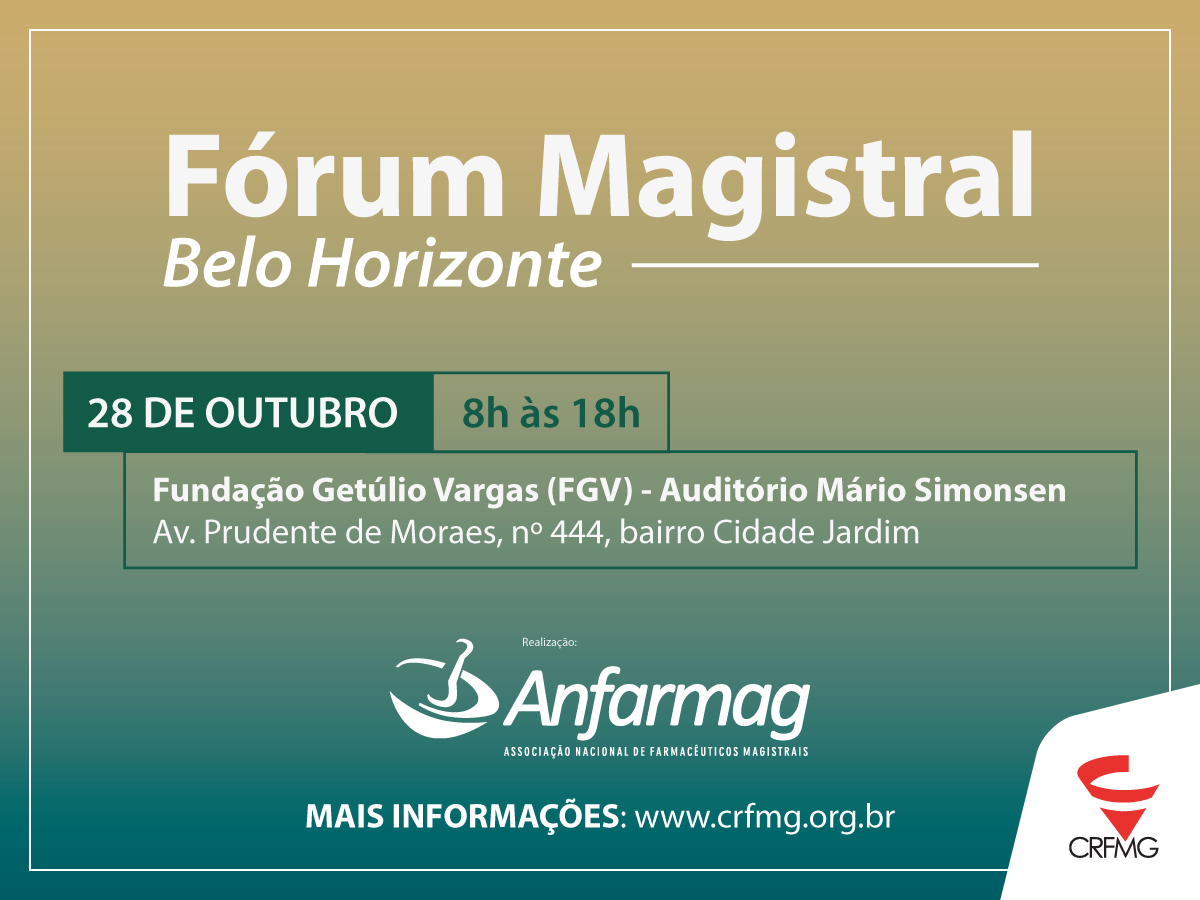 CRF/MG promove Fórum Magistral em Belo Horizonte