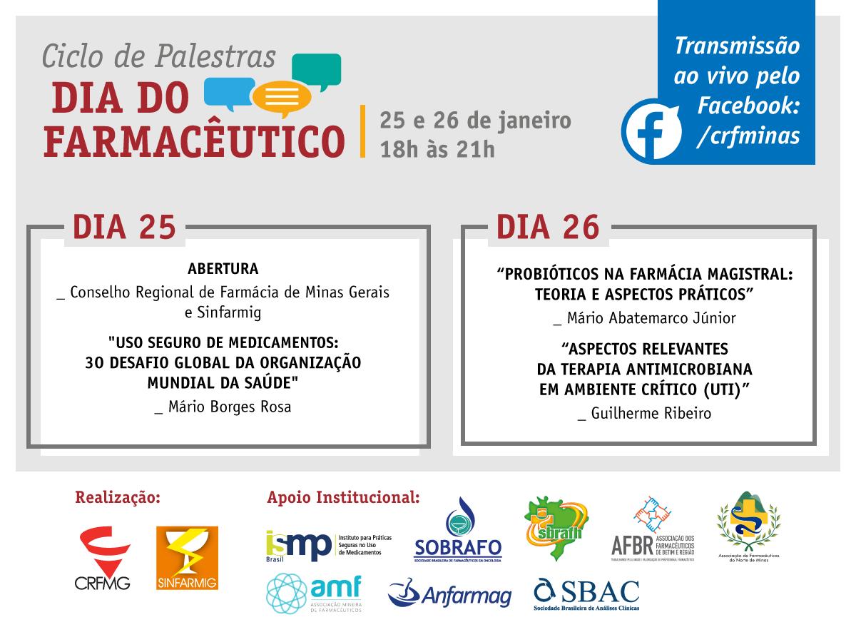 Ciclo de Palestras em comemoração ao Dia do Farmacêutico