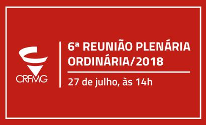 6ª Reunião Plenária Ordinária de 2018