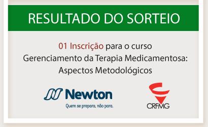 RESULTADO DO SORTEIO: 01 Inscrição para o curso Gerenciamento da Terapia Medicamentosa: Aspectos Metodológicos