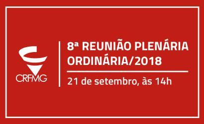8ª Reunião Plenária votará Orçamento do CRF/MG para 2019