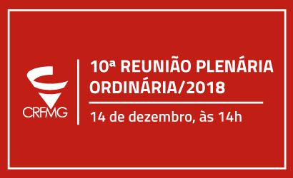 10ª Reunião Plenária Ordinária 2018