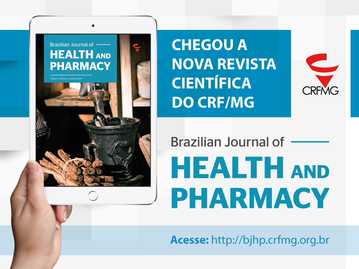CRF/MG lança revista científica Brazilian Journal of Health and Pharmacy