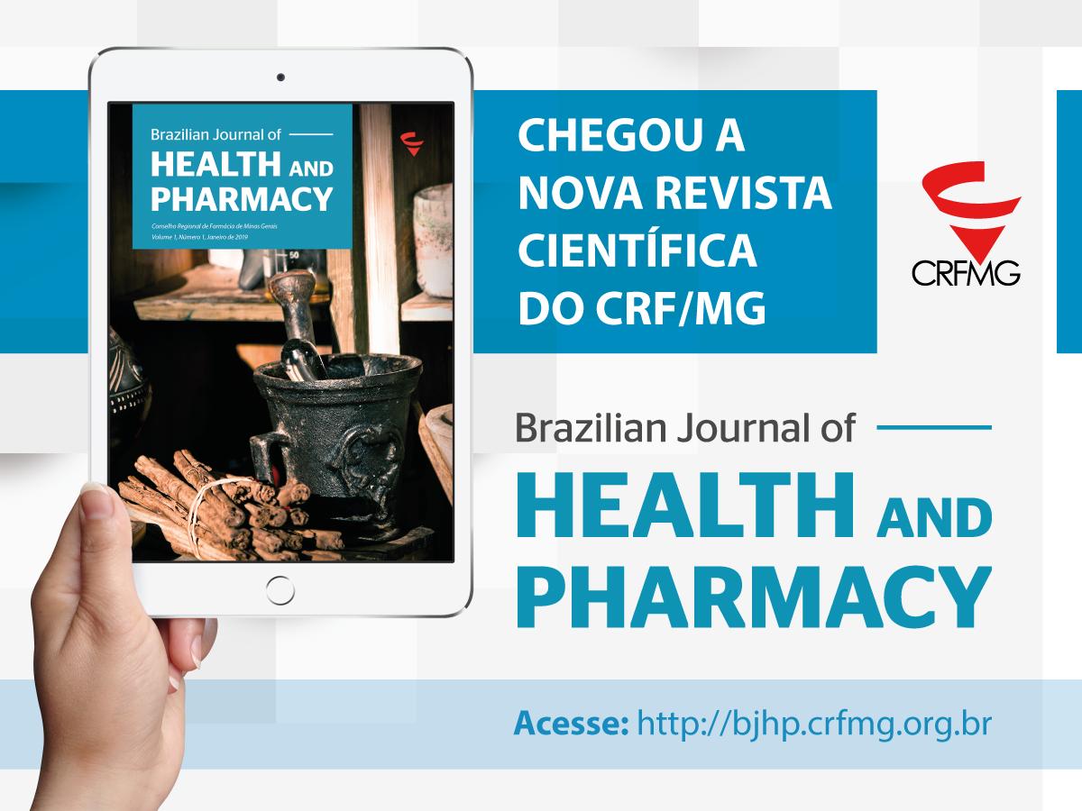 CRF/MG lança revista científica Brazilian Journal of Health and Pharmacy