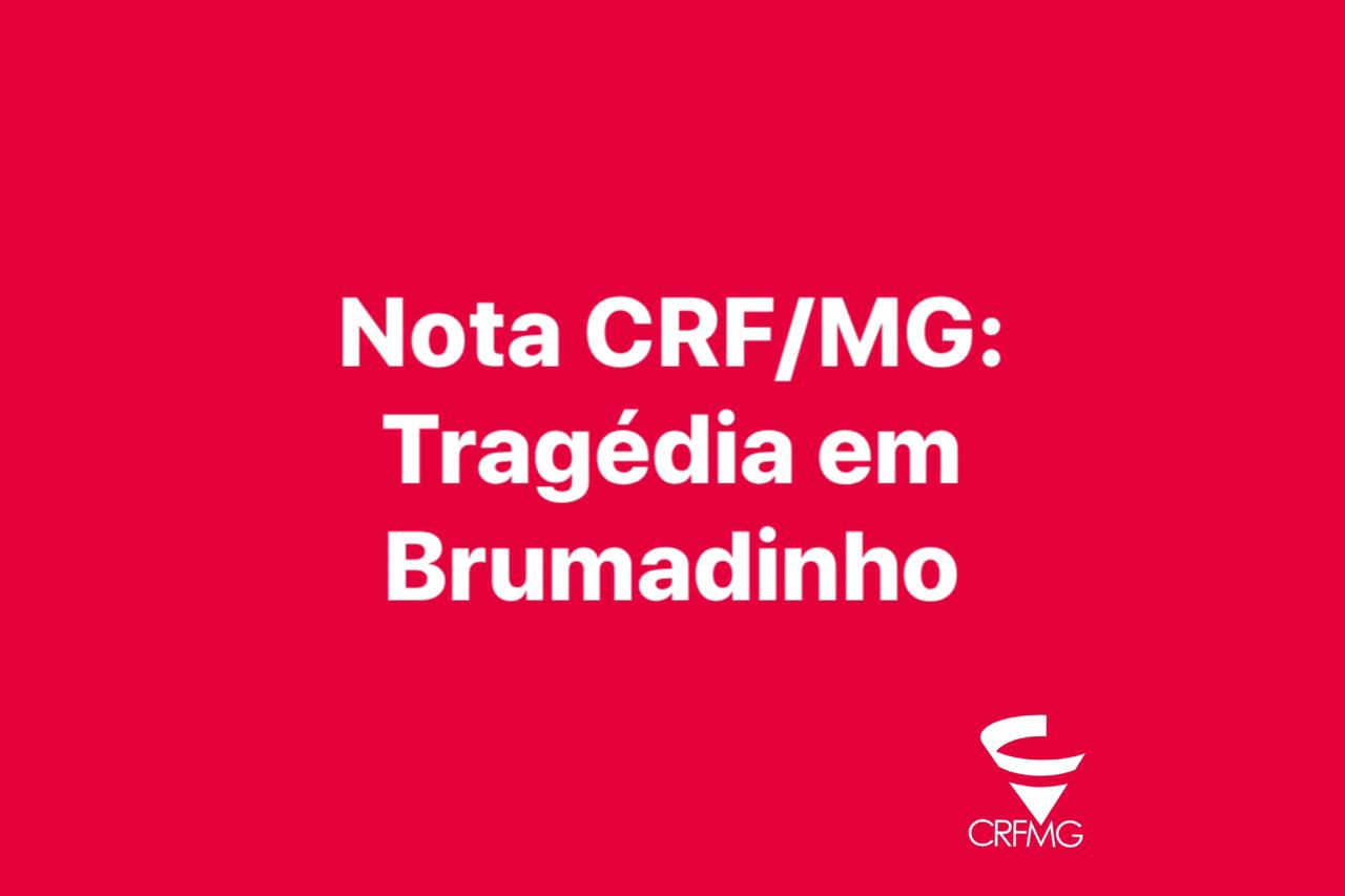 Nota de pesar sobre a tragédia de Brumadinho