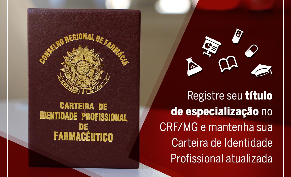 Registre seu título de especialização no CRF/MG