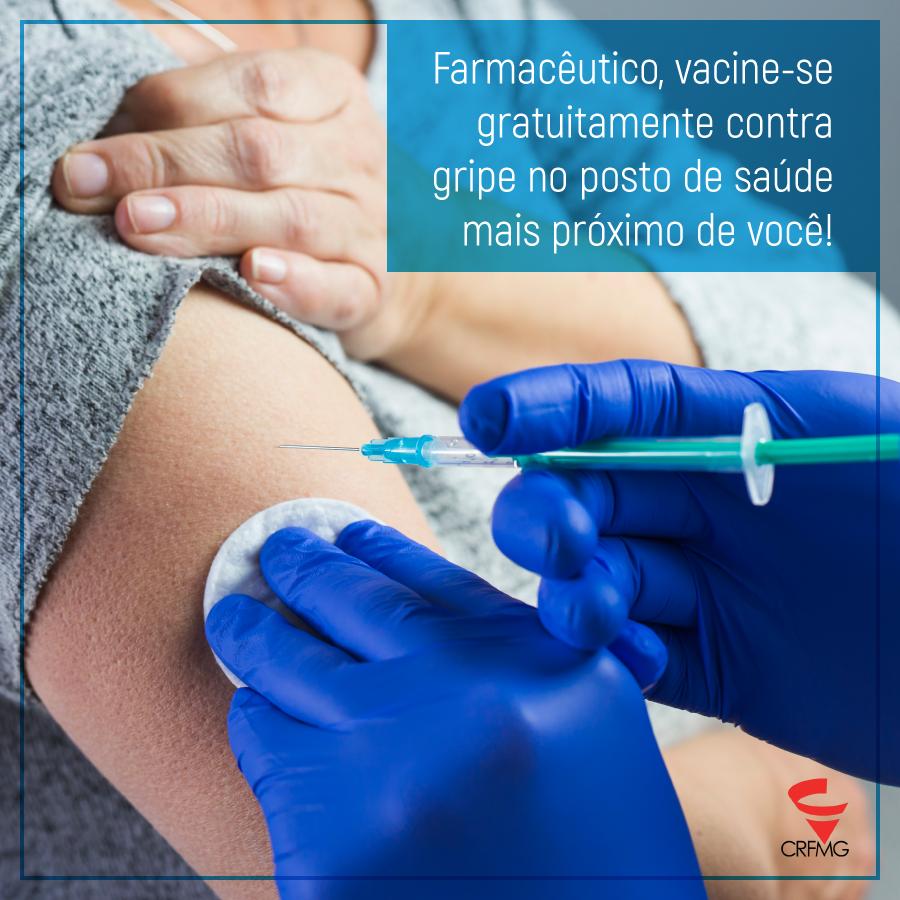 Farmacêuticos já podem se vacinar gratuitamente contra gripe