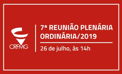 7ª REUNIÃO PLENÁRIA ORDINÁRIA/2019