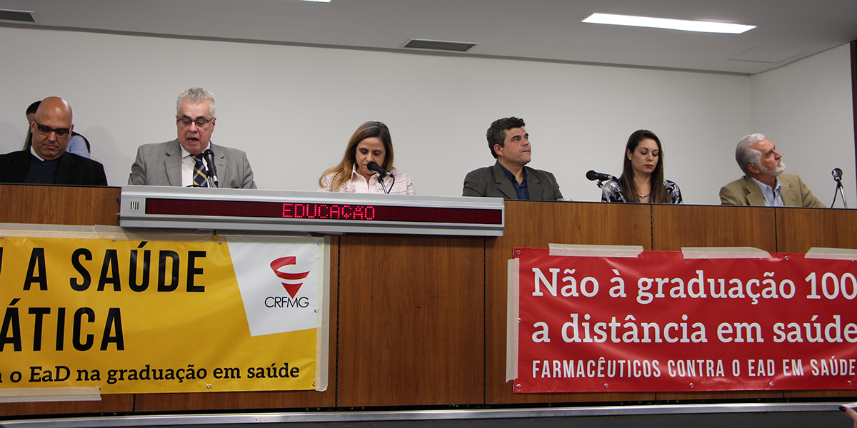 EaD em saúde: ALMG promove audiência pública a pedido do CRF/MG